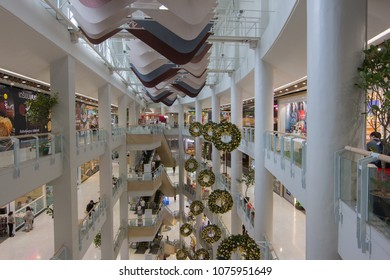 BANGKOK - JAN 10: People shop at Central Rama3, Bangkok on Jan 10, 2018. It is a shopping complex, owned Central Pattana and was the first inegrated shopping complex of Central Pattana