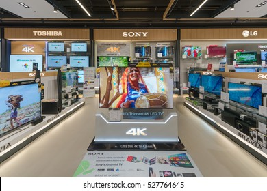 BANGKOK - Jan 10: Sony LCD TV display at Power Buy in Central Festival Department Store on Jan 10, 2016 in Bangkok, Thailand.