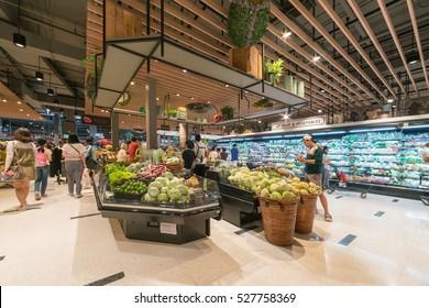 BANGKOK - Jan 10: Top Supermarket at Central Festival Department Store on Jan 10, 2016 in Bangkok, Thailand.
