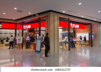 BANGKOK - JAN 10: True shop at Central rama3 on Jan 10, 2018. It is a communication conglomerate in Thailand and its third-largest mobile operator True Move.