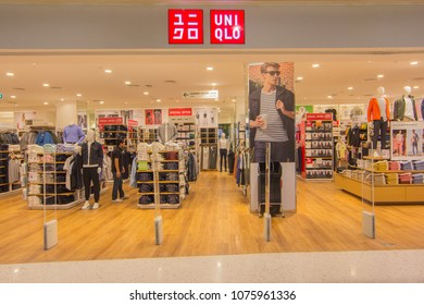 BANGKOK - JAN 10: Uniqlo store at Central Salaya, Bangkok on Jan 10, 2018. UNIQLO is a Japanese casual wear designer, manufacture and retailer operating worldwide.