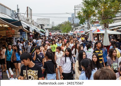 BANGKOK - JAN 11:Jatujak market,the famous weekend market on Jan 11, 2015 in Bangkok,Thailandis one of the destination of foreigners Only open Saturdays and Sundays