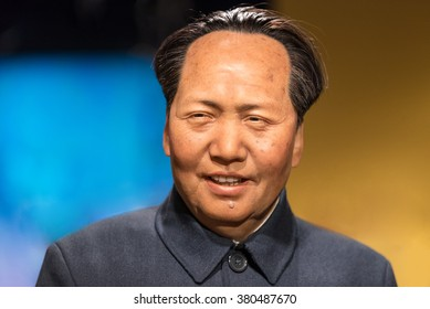 BANGKOK - JAN 29: A waxwork of Mao Zedong on display at Madame Tussauds on January 29, 2016 in Bangkok, Thailand. Madame Tussauds' newest branch hosts waxworks of numerous stars and celebrities