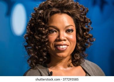 BANGKOK - JAN 29: A waxwork of Oprah Winfrey on display at Madame Tussauds on January 29, 2016 in Bangkok, Thailand. Madame Tussauds' newest branch hosts waxworks of numerous stars and celebrities