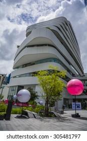BANGKOK - JuL 16, 2015 : Emquartier shopping mall at BTS Phrom Phong station.