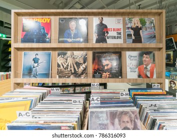 BANGKOK - JUL 2 : Old records for sale in B2S book store at Central Ladprao on Jul 2, 2017 in Bangkok , Thailand.