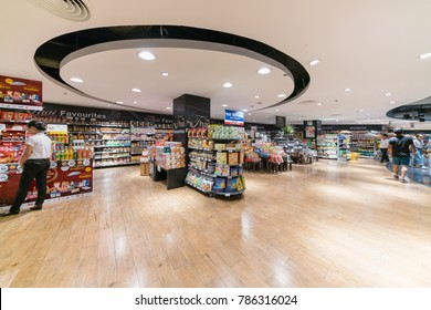 BANGKOK - JUL 2 : People shop at Top Supermarket in Central Ladprao on Jul 2, 2017 in Bangkok, Thailand.