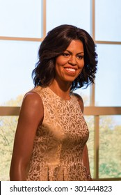 BANGKOK -JULY 22: A waxwork of Michelle Obama on display at Madame Tussauds on July 22, 2015 in Bangkok, Thailand. Madame Tussauds' newest branch hosts waxworks of numerous stars and celebrities