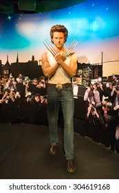 BANGKOK -JULY 22: A waxwork of Wolverine on display at Madame Tussauds on July 22, 2015 in Bangkok, Thailand. Madame Tussauds' newest branch hosts waxworks of numerous stars and celebrities