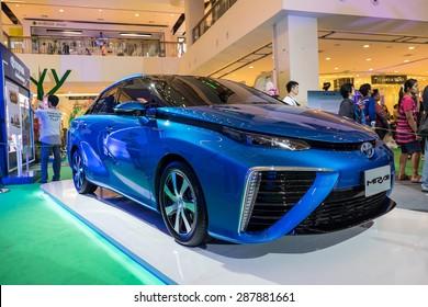 BANGKOK - june 14 : Toyota Mirai - on TOYOTA Green Heart Effect thailand