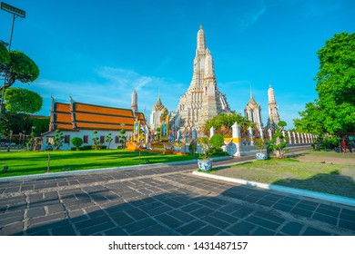 BANGKOK - june 15: at Wat Arun temple on june 15, 2019 in Bangkok, Thailand. Its among the best known of Thailands landmarks and was built in the seventeenth century