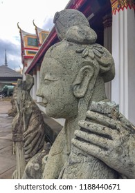 BANGKOK June 16, 2018 :Chinese Statue in Buddhist temple Wat Arun Ratchawararam Ratchawaramahawihan