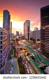 BANGKOK  - JUNE 23, 2014: Siam BTS Station in Bangkok, Thailand. BTS or Skytrain is one of the most convenient methods to travel around Bangkok.