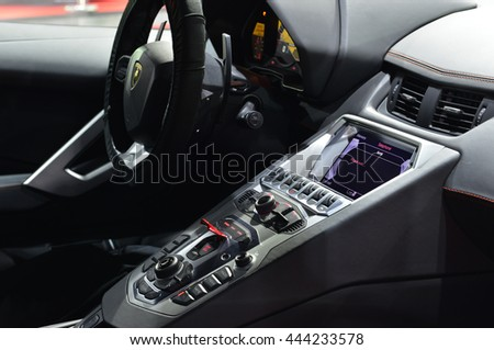 Bangkok June 23 Interior Lamborghini Aventador Stock Photo Edit Now