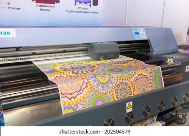 Digital Fabric Printing Stock Photos, Images & Photography