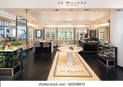 BANGKOK - MARCH 17, 2016: Jo Malone London store at the Siam Paragon shopping mall. Jo Malone London is a British perfume and scented candle brand and owned since 1999 by Estee Lauder.