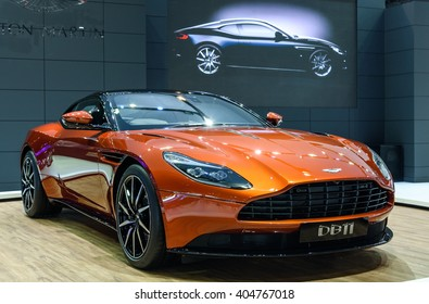 BANGKOK - MARCH 22 : Aston Martin DB11 on display at The 37th Bangkok International Motor Show : No � Boundaries Mobility on March 22, 2016 in Bangkok, Thailand.
