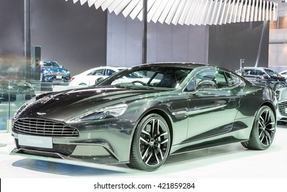 Bangkok - March 22 : black Aston Martin series Vanquish - in display at The 37th Bangkok international Motor Show 2016 on March 22, 2016 in Bangkok Thailand
