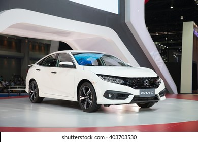 BANGKOK - MARCH 22: Honda civic car on display at The 37 th Thailand Bangkok International  Motor Show  on March 22, 2016 in Bangkok, Thailand.