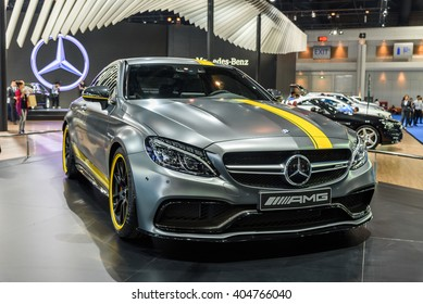 BANGKOK - MARCH 22 : Mercedes-Benz C 63 S on display at The 37th Bangkok International Motor Show : No �Boundaries Mobility on March 22, 2016 in Bangkok, Thailand.