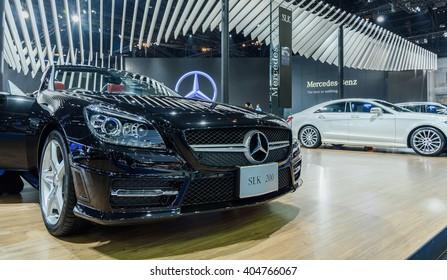 BANGKOK - MARCH 22 : Mercedes-Benz SLK 200 on display at The 37th Bangkok International Motor Show : No �Boundaries Mobility on March 22, 2016 in Bangkok, Thailand.
