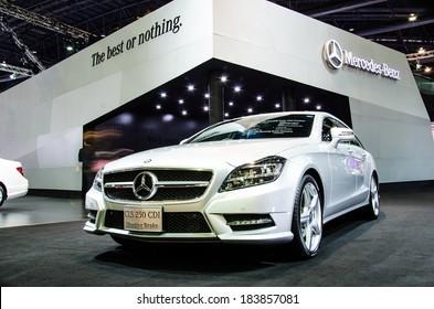 BANGKOK - MARCH 24: Mercedes-Benz CLS 250 CDI Shooting Brake car on display at The 35th Bangkok International Motor Show on March 24, 2014 in Bangkok, Thailand.