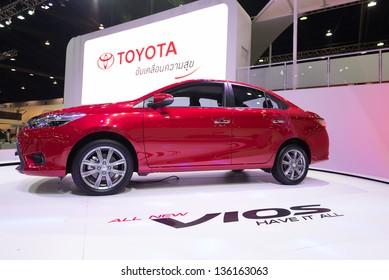 BANGKOK - MARCH 26 : All new Toyota Vios on display at The 34th Bangkok International Motor Show 2013 in Bangkok, Thailand.