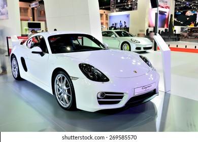 BANGKOK - March 26 : New Porsche Cayman, Sport car, on DisPlay at 36th Bangkok International Motor Show on March 26, 2015 in Bangkok, Thailand.