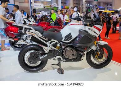 BANGKOK - MARCH 26 : YAMAHA Super Tenere Big Bike Motorcycle on Display at The 35th Bangkok International Motor Show 2014 on March 26, 2014 in Bangkok, Thailand.