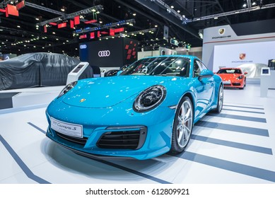 BANGKOK - March 28, 2017 : Porsche 911 Carrera-S car on display at the 38th BANGKOK INTERNATIONAL MOTOR SHOW 2017 on March 28, 2017 in Bangkok, Thailand.