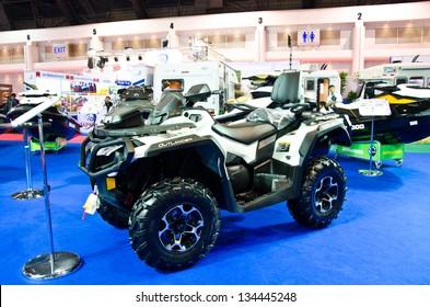 BANGKOK - MARCH 28 : The Can-Am Outlander Max  Limited ATV on display at The 34th Bangkok International Motor Show 2013 on March 28, 2013 in Bangkok, Thailand.