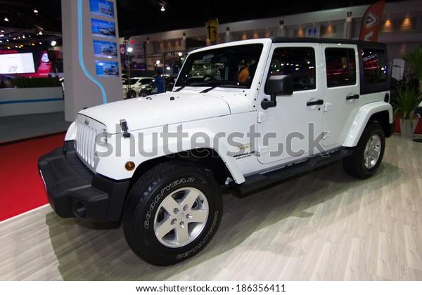 Bangkok March 28 Jeep Wrangler Zahara Transportation Stock Image