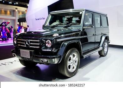 BANGKOK - MARCH 29 : Mercedes-Benz The new G-Class on display at Bangkok International Motor Show 2014 on March 29, 2014 in Bangkok, Thailand.