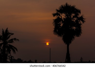 BANGKOK - MARCH 9, 2016: Partial andover  in Bangkok city, Thailand, Asia. The partial Eclipse of the sun is on 9 March 2016 around 7.40 AM at local time.