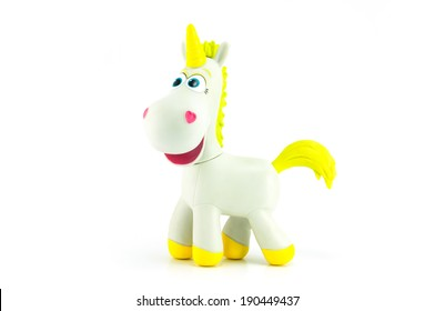 BANGKOK - MAY 01,2014: Buttercup is a white unicorn with a golden horn. Character in Toy Story 3 and Toy Story Toons.