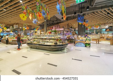 BANGKOK - MAY 1: Top Suppermarket at Central Festival on May 1, 2016 in Bangkok. It is a shopping complex, owned Central Pattana and was the first inegrated shopping complex of Central Pattana.