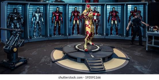 BANGKOK - MAY 11,2014 : Iron Man Mark 42 model room on display in Thailand Comic Con 2014 on May 11, 2014 at Siam Paragon, Bangkok, Thailand.