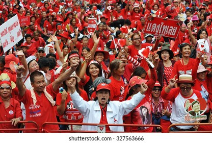 BANGKOK - MAY 19: Protesters attend a large Red Shirt rally on May 19, 2013 in Bangkok, Thailand. Red Shirts gathered to mark the 3rd anniversary of a bloody crackdown on anti-government protesters.