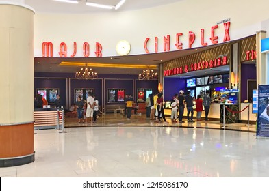 Bangkok - May 2, 2018 : People buy tickets at Major Cimeplex. Major Cimeplex is a largest cinema chain in Thailand