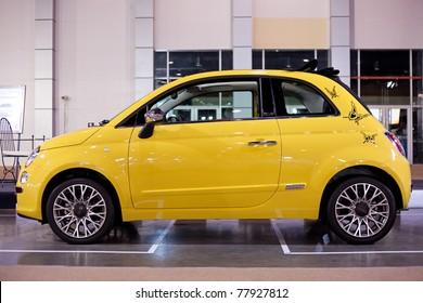 BANGKOK - MAY 20 : FIAT 500 on display at Impact Muangthong Thani Exhibitions Hall event on May 20, 2011 in Bangkok, Thailand.