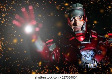 BANGKOK - MAY 21,2014 : Iron Man model room on display in Thailand 2014 on May 21, 2014 at Bangkok, Thailand.