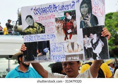 BANGKOK - MAY 31: Anti government protesters rally outside the Thai Parliament on May 31, 2012 in Bangkok, Thailand. The protesters call for the government to be overthrown.