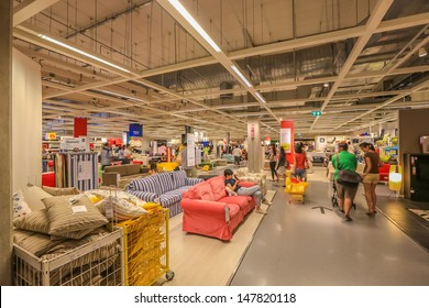 BANGKOK - MAY 5: , People shop at Ikea , Mega Bangna on May 5, 2013.  Founded in Sweden in 1943, Ikea is the world's largest furniture retailer.