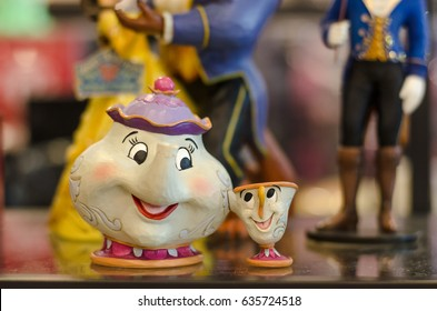 BANGKOK - MAY 6, 2017 : Disney Merchandise Supporting Characters from Disney's 1991 film Beauty and the Beast.