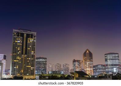 Bangkok night city