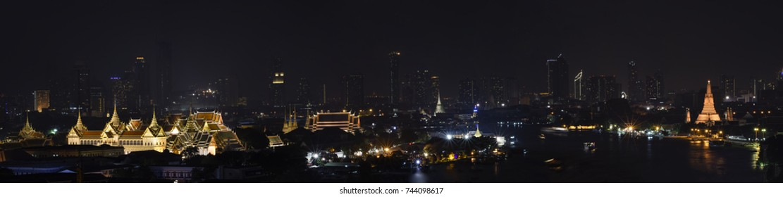 Bangkok Night, Panorama image.