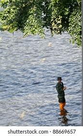 BANGKOK - NOV 10: worst flood disasters in years hits Bangkok streets. Bangkok flooding, 10 November 2011