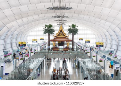 BANGKOK - Nov 23: Bangkok Airport on November 23, 2016 in Bangkok, Thailand. Suvarnabhumi Airport is one of two international airports serving Bangkok, Thailand.
