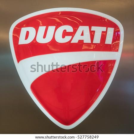 Bangkok Nov 27 Ducati Logo Siam Stock Photo Edit Now 527758249