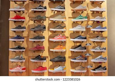 BANGKOK - NOVEMBER 18, 2014 : sneakers shop in Siam Paragon Mall in Bangkok, Thailand